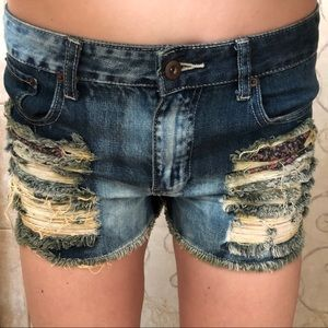 FOREVER 21: distressed jean shorts